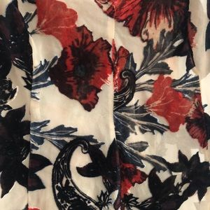 Free People Dresses - Free People Sheer Slip Dress w Velvet Print